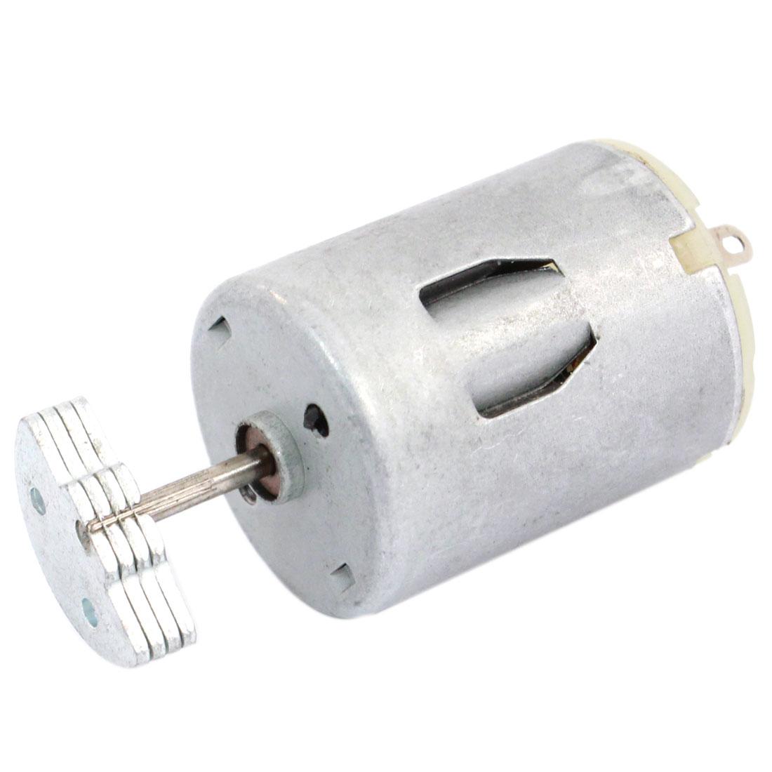 13500RPM DC 3-9V 2.2A High Torque Micro Vibration Motor Silver Tone