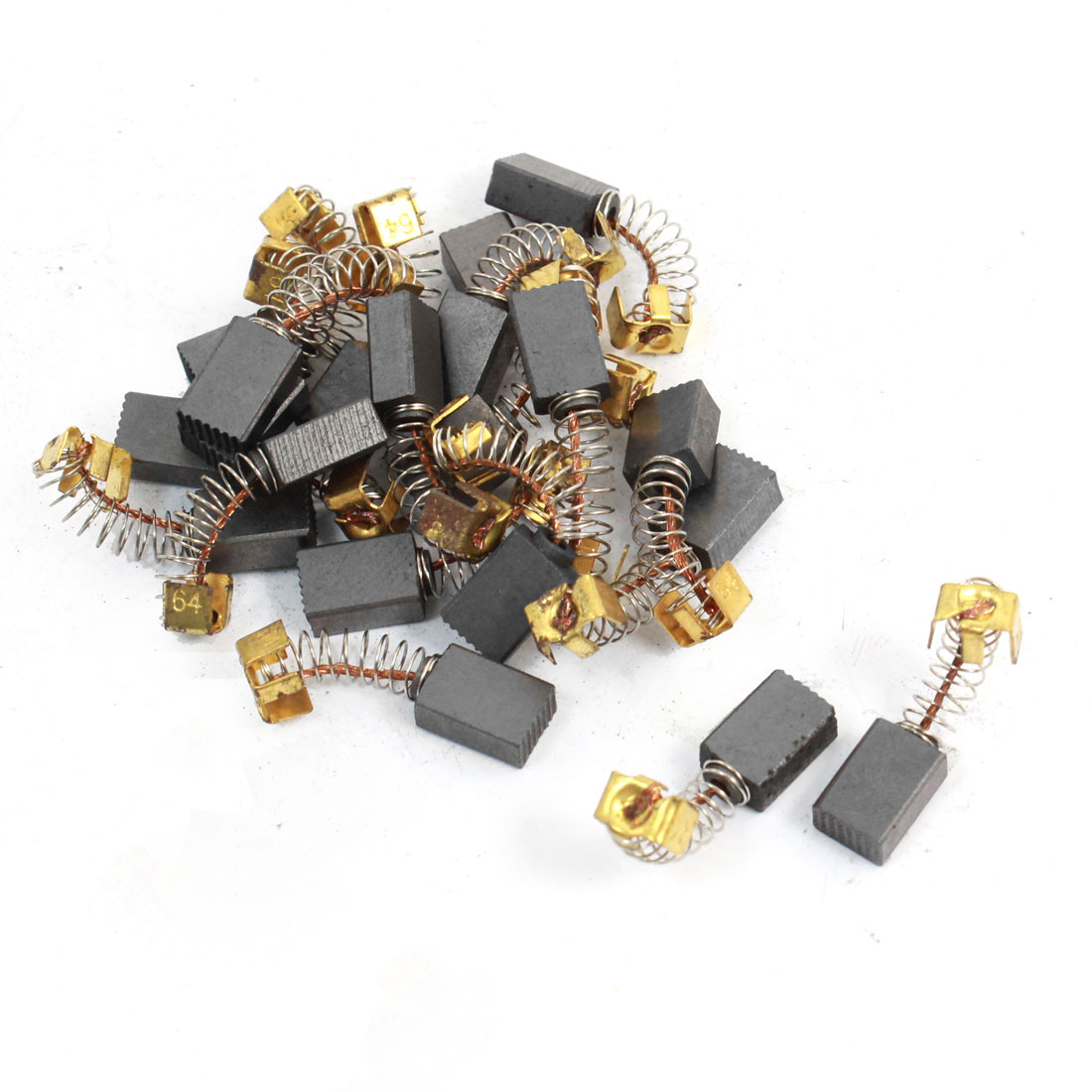 20 Pcs 11mm x 8mm x 5mm Carbon Brushes Black for Electric Drill Motor
