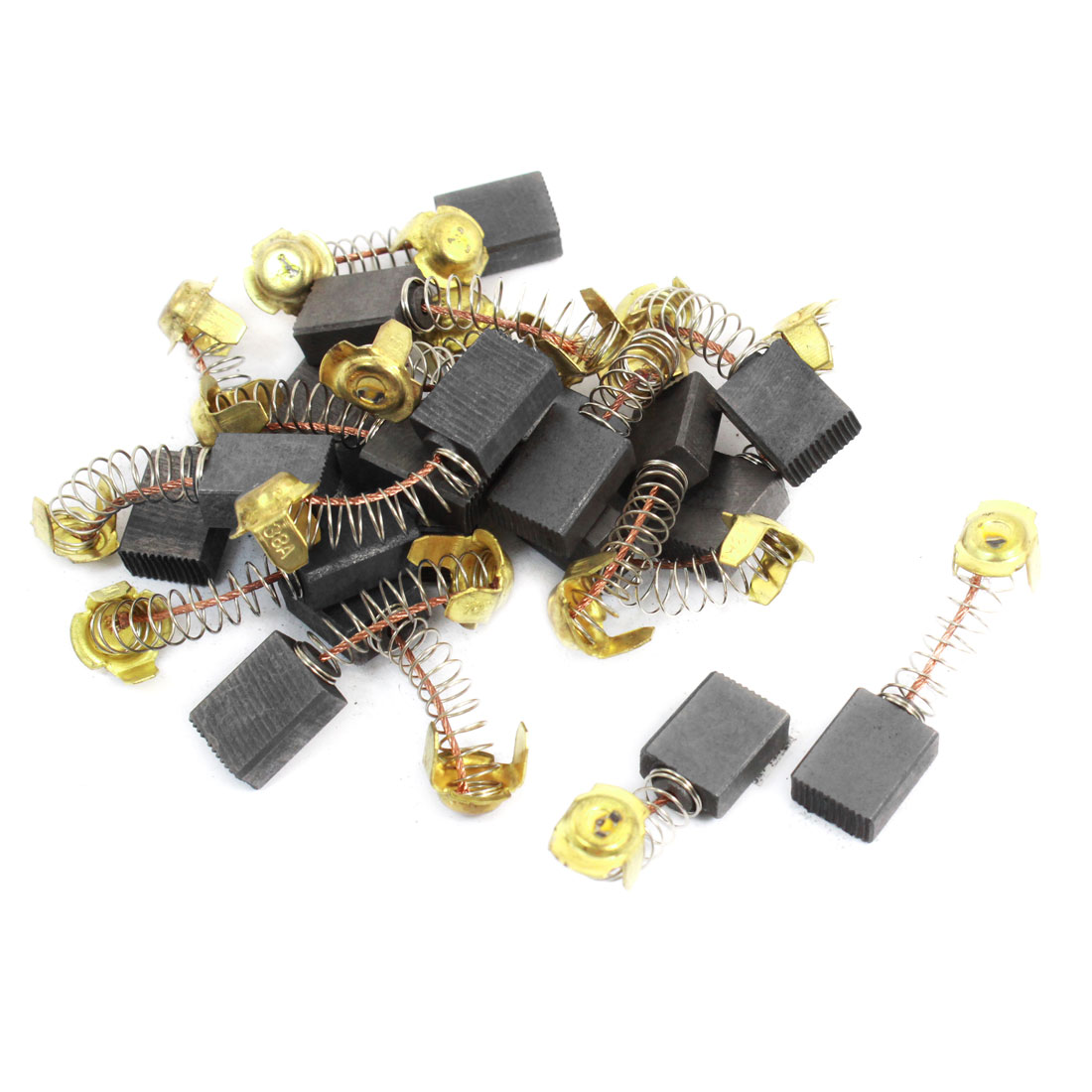 20 Pcs 16mm x 13mm x 7mm Carbon Brushes Black for Electric Drill Motor