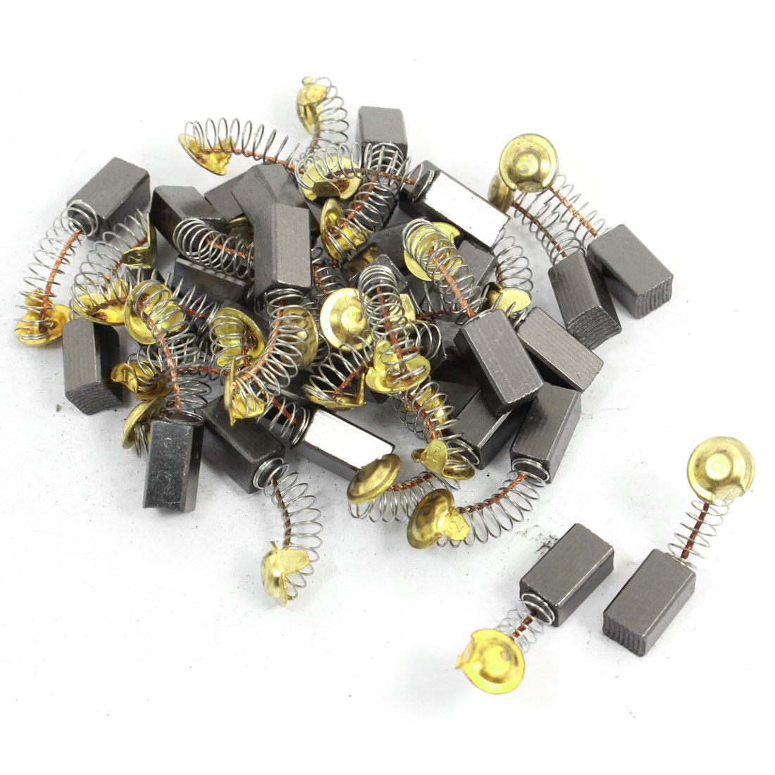 30 Pcs 14mm x 8mm x 7mm Carbon Brushes Black for Electric Drill Motor