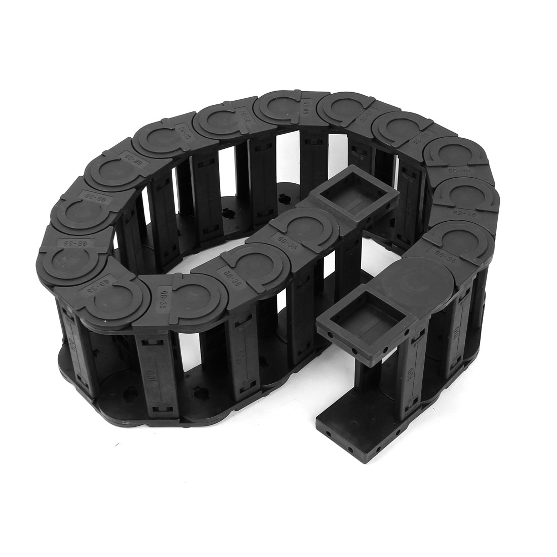 Black Plastic Drag Chain Cable Carrier 35 x 100mm for CNC Machine