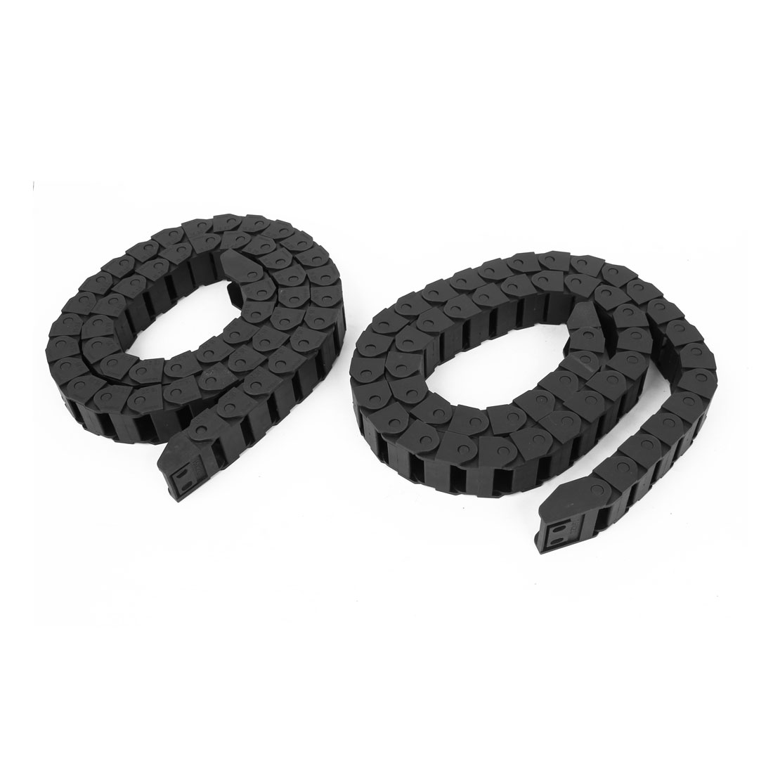 2 Pcs Black Plastic Drag Chain Cable Carrier 15 x 20mm for CNC Machine