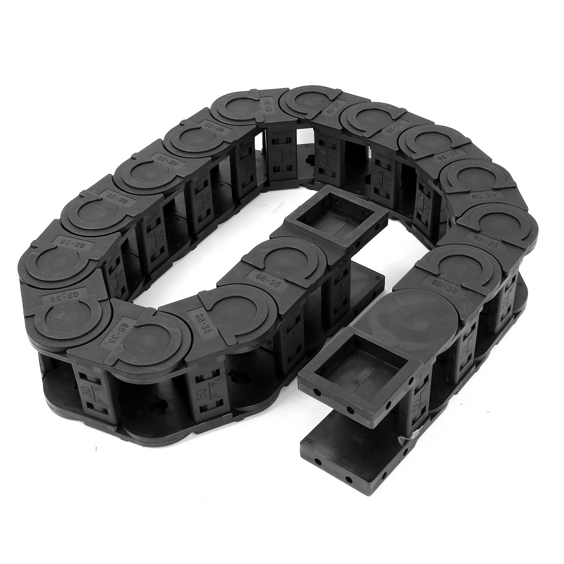 Black Plastic Drag Chain Cable Carrier 35 x 50mm for CNC Machine