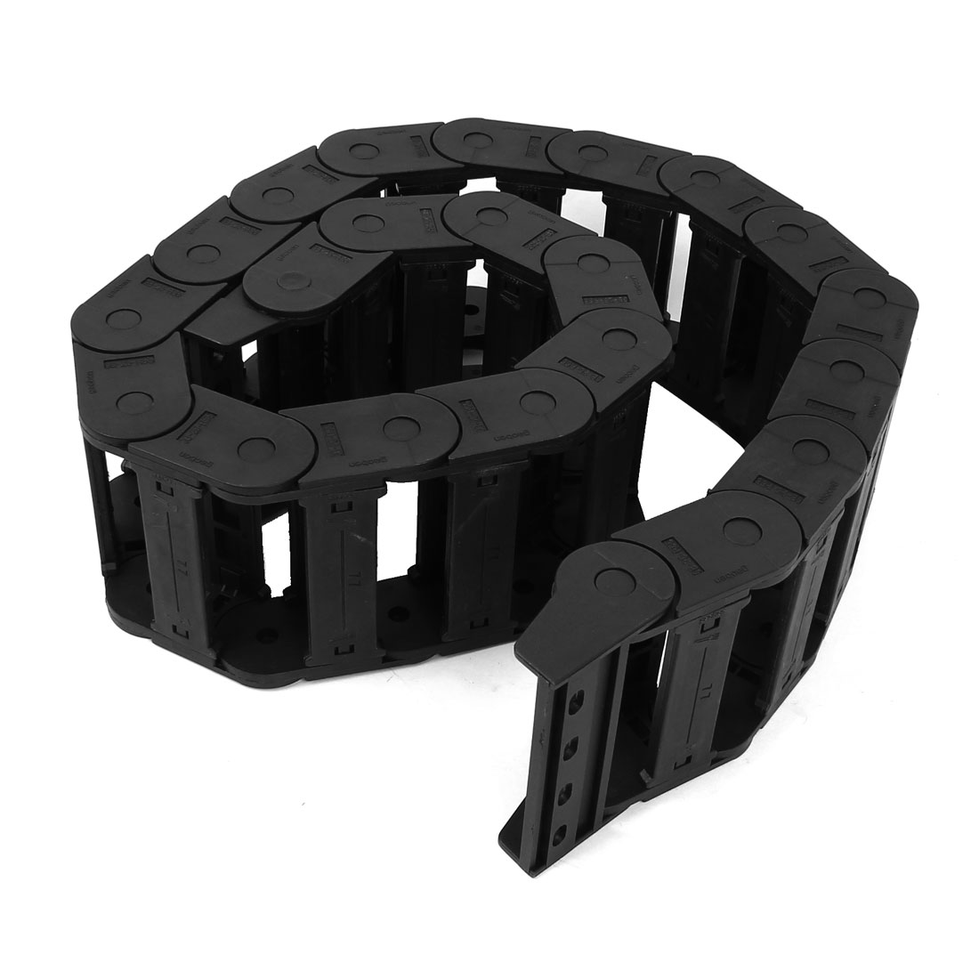 Black Plastic Drag Chain Cable Carrier 25 x 77mm for CNC Machine