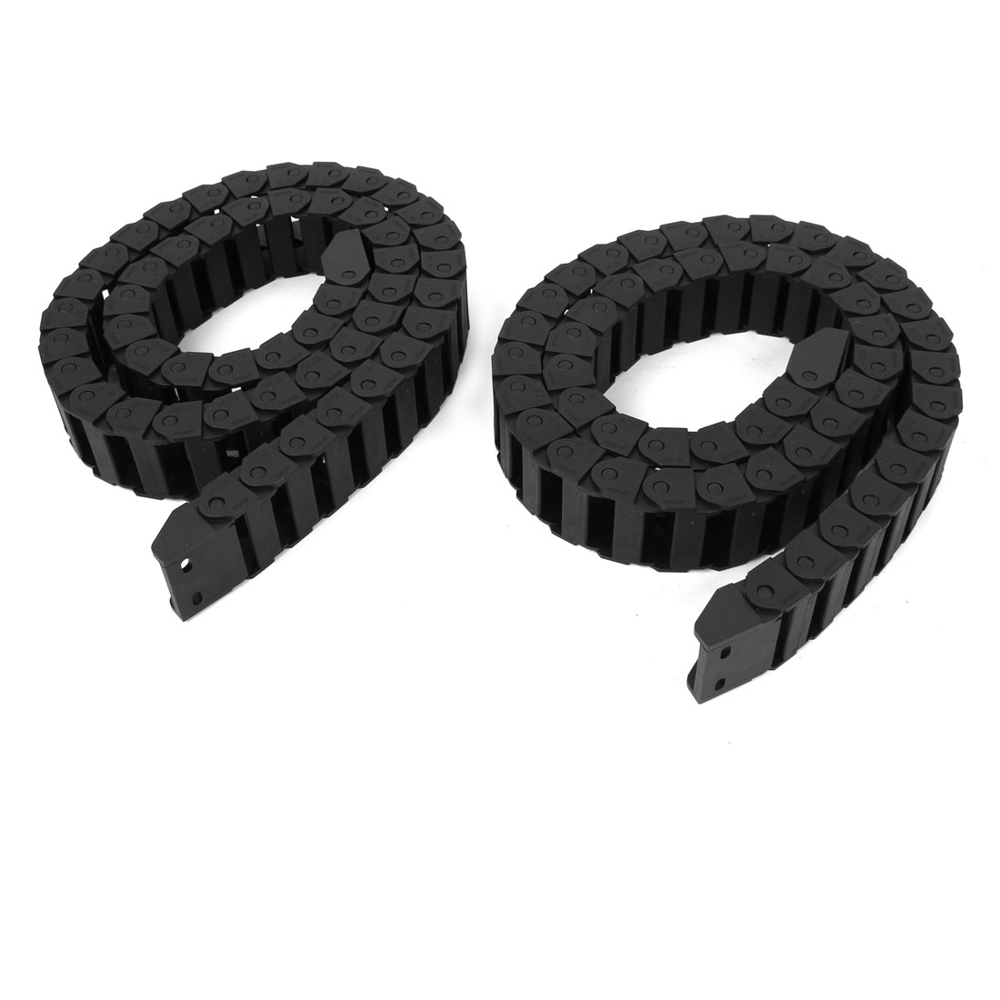 2 Pcs Black Plastic Drag Chain Cable Carrier 15 x 30mm for CNC Machine