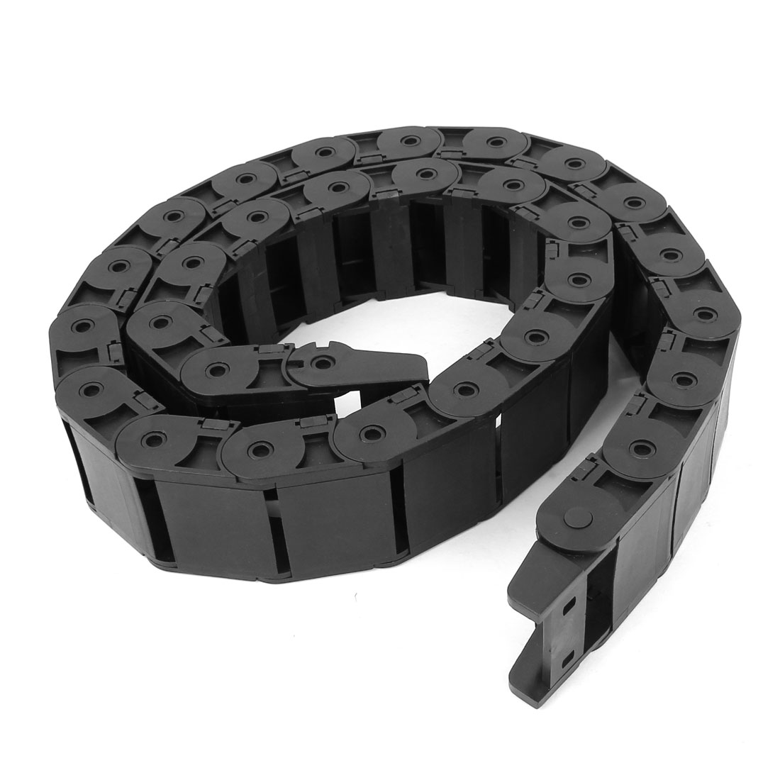Black Plastic Drag Chain Cable Carrier 18 x 37mm for CNC Machine