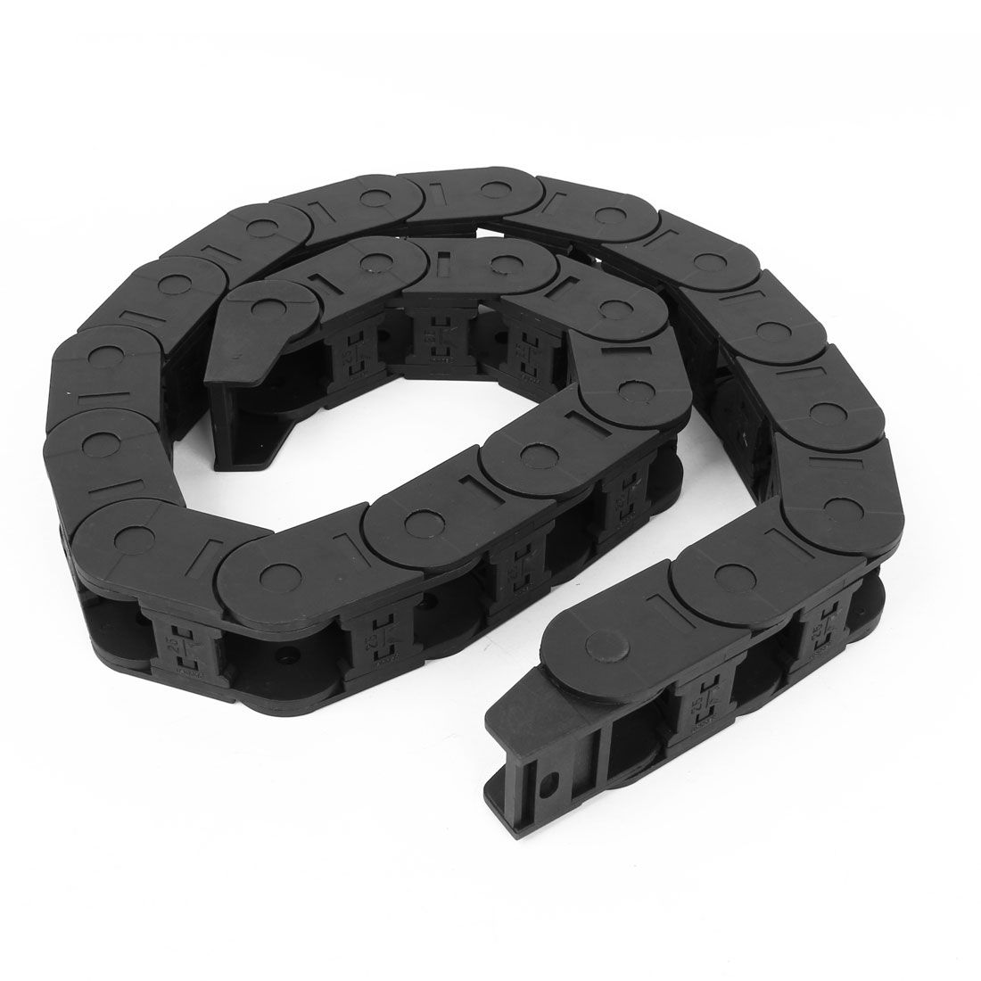 Black Plastic Drag Chain Cable Carrier 25 x 25mm for CNC Machine