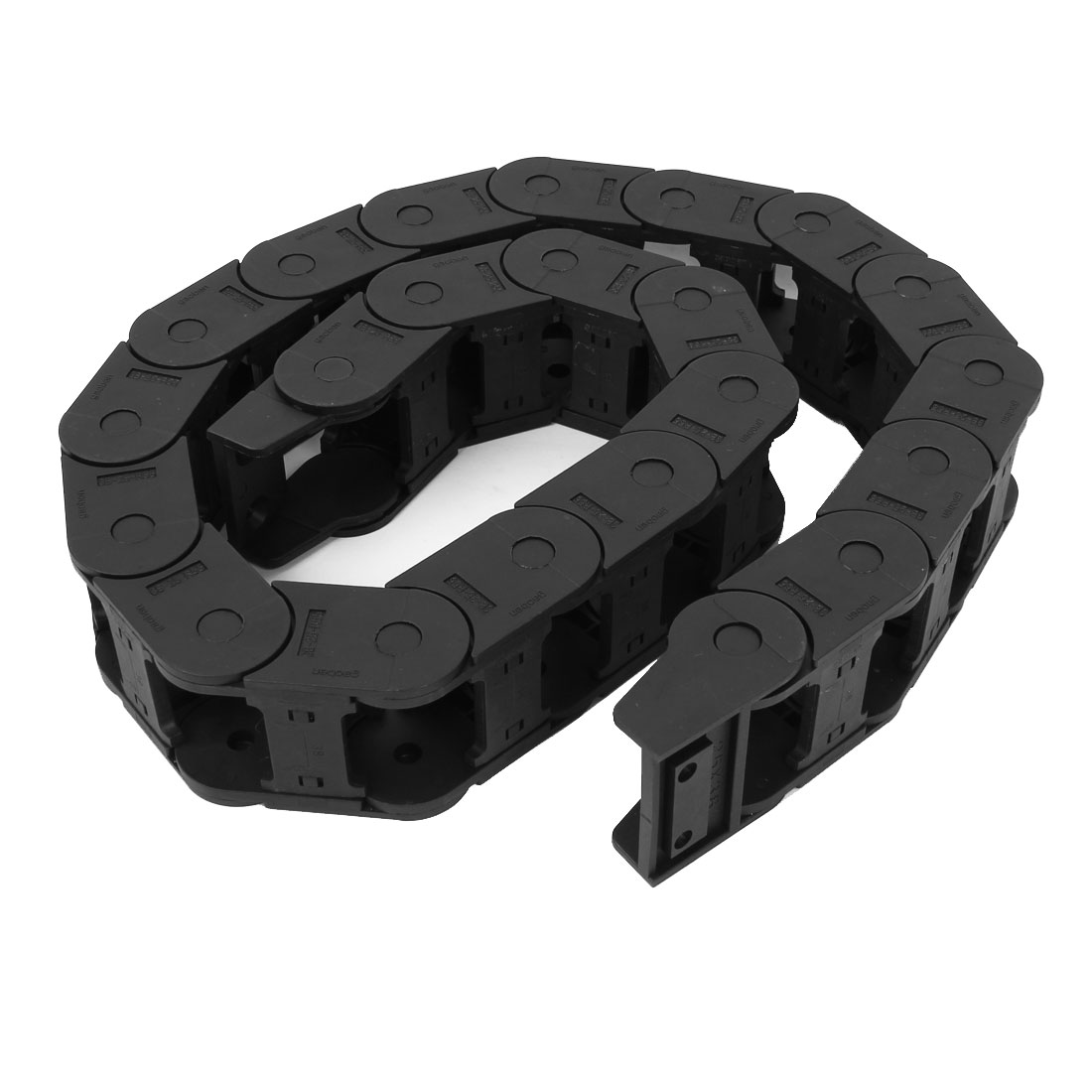 Black Plastic Drag Chain Cable Carrier 25 x 38mm for CNC Machine