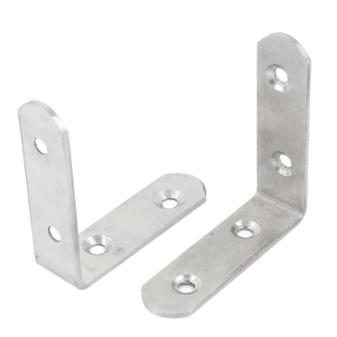 2 Pcs L Shape Corner Brace Right Angle Bracket 65mm x 65mm x 20mm