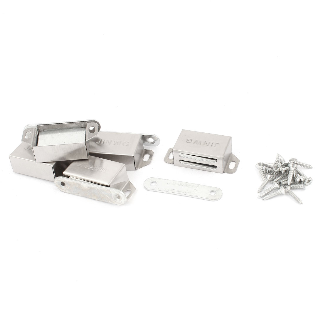 Cupboard Cabinet 51 x 27mm Magnetic Door Catch Magnet Holder Latch 5 Set