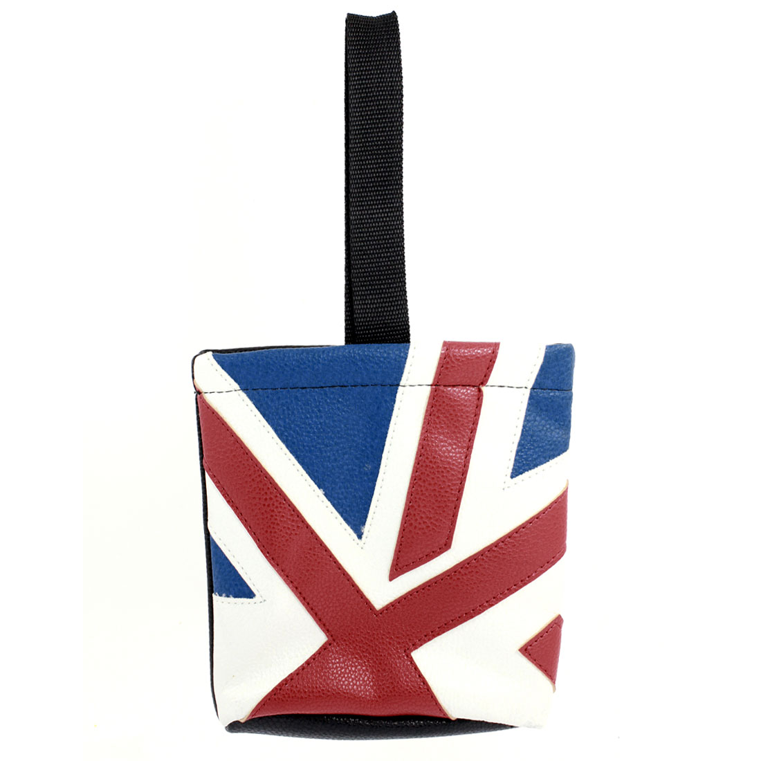 Flag Print Faux Leather Car Interior Cell Phone Storage Pouch Bag