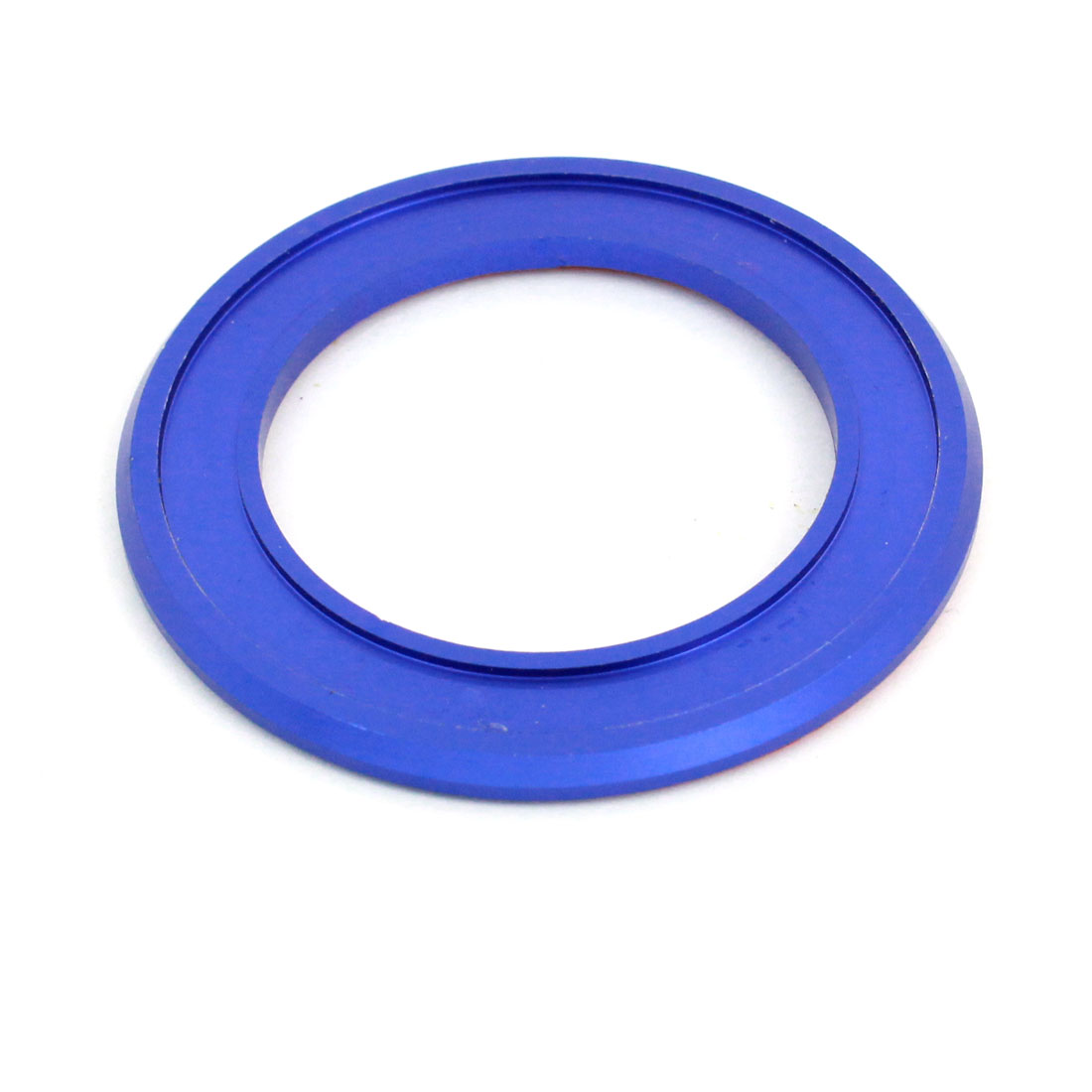 Car Blue 55mm Dia Aluminium Key Ring Reychain Protector for Nissan