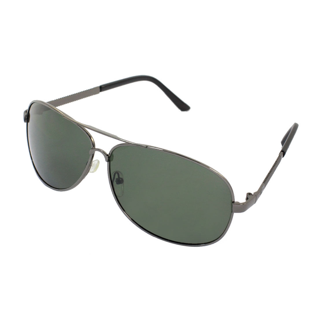 Women Man Waterdrop Shape Lens Metal Full Slim Frame Polarized Sunglasses