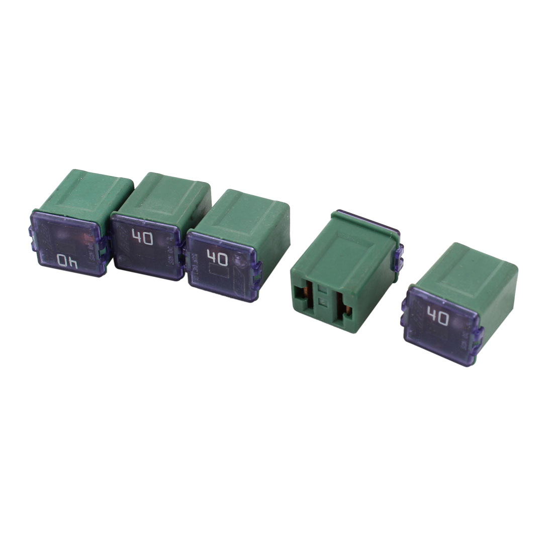 5 Pcs Car 12V-58V 40A Female PAL Link Slow Blow Fuse Dark Green