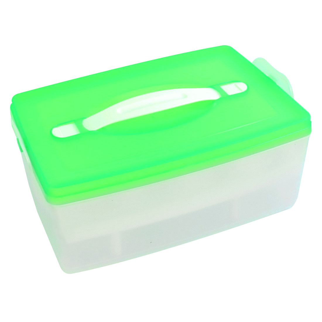 White Green Double Layer Freshness Preservation Storage Box Case for 24 Eggs