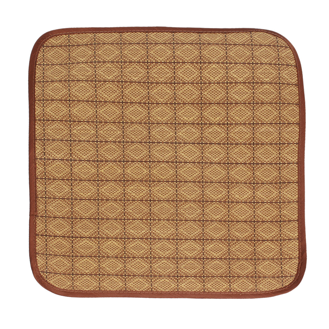 Cooling Summer Pet Dog Cat Square Mat Pad Cushion Brown Beige 40cm x 40cm