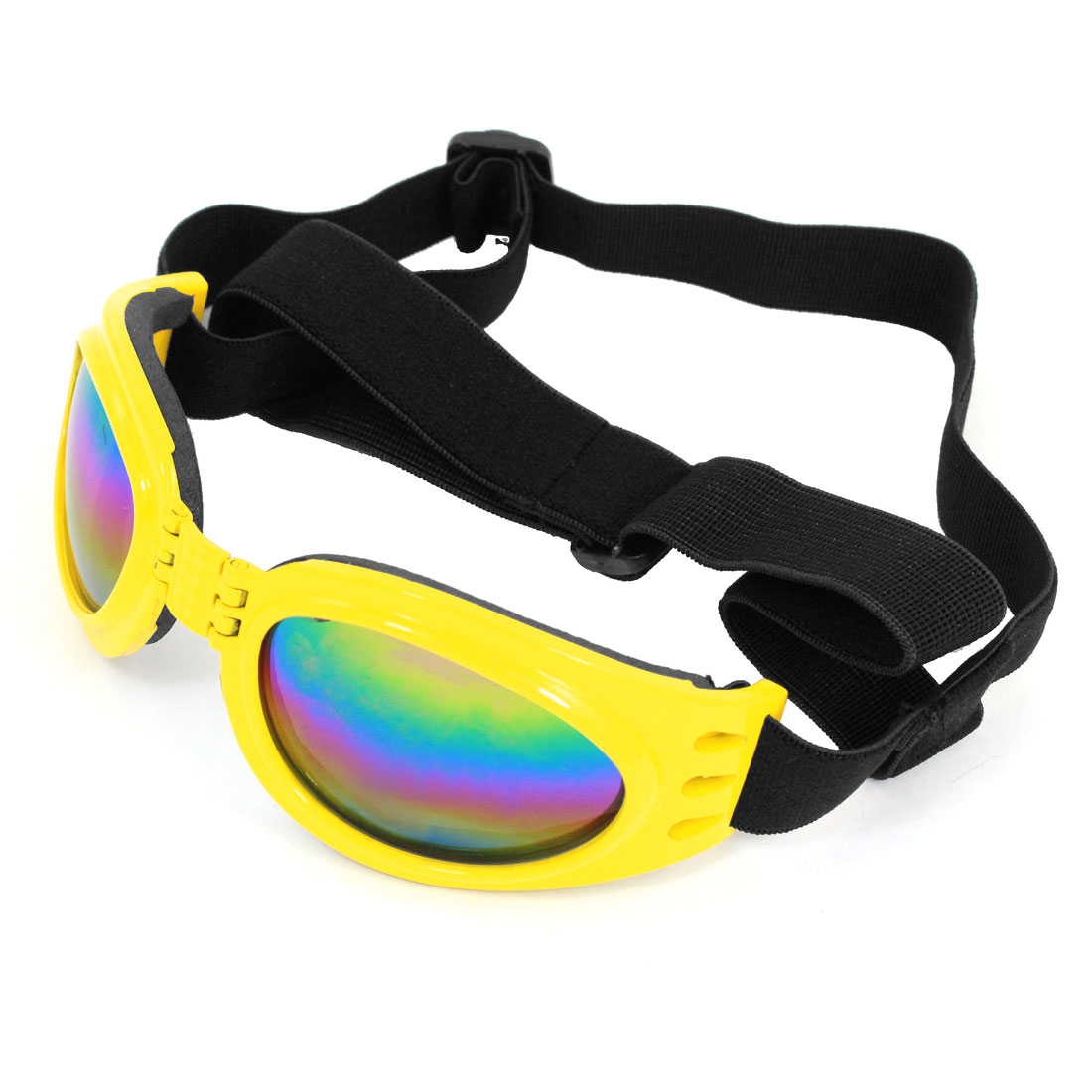Adjustable Band Yellow Frame Pet Dog Puppy Eye Protective Sunglasses Goggles