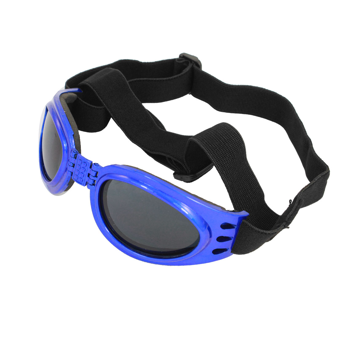 Adjustable Band Blue Frame Pet Dog Puppy Eye Protective Sunglasses Goggles
