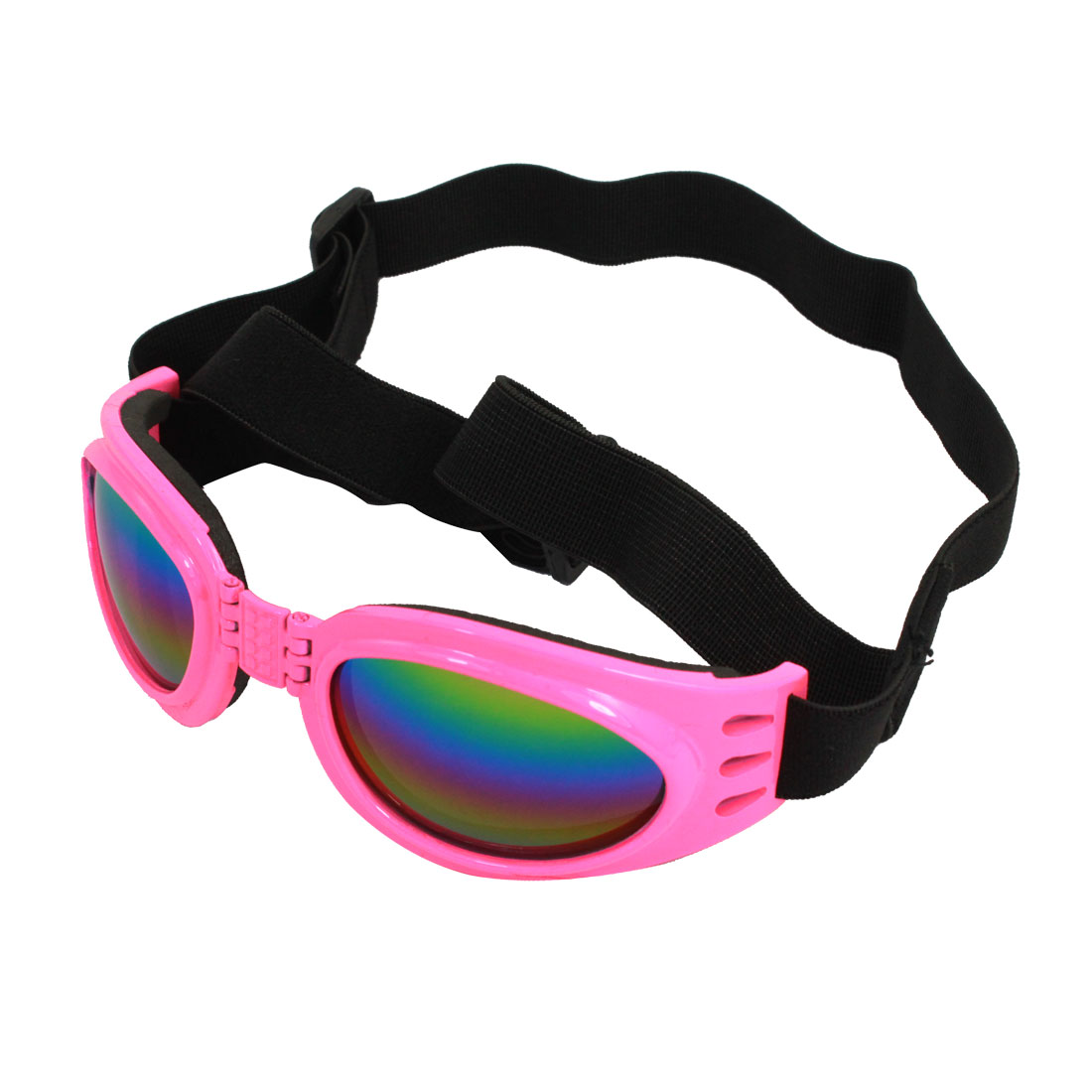 Adjustable Band Pink Frame Pet Dog Puppy Eye Protective Sunglasses Goggles