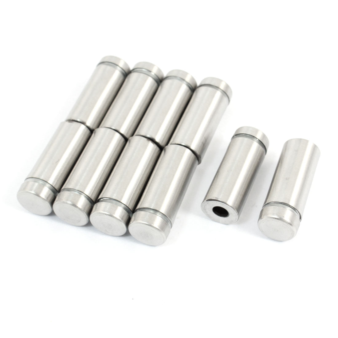 10 Pcs 12mm x 30mm Stainless Steel Glass Standoff Hardware