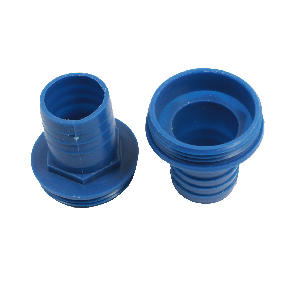 "2 Pcs 55mm 2.2"" Male Thread to 35mm Hose Barb Fitting Water Pump Pipe Connector"