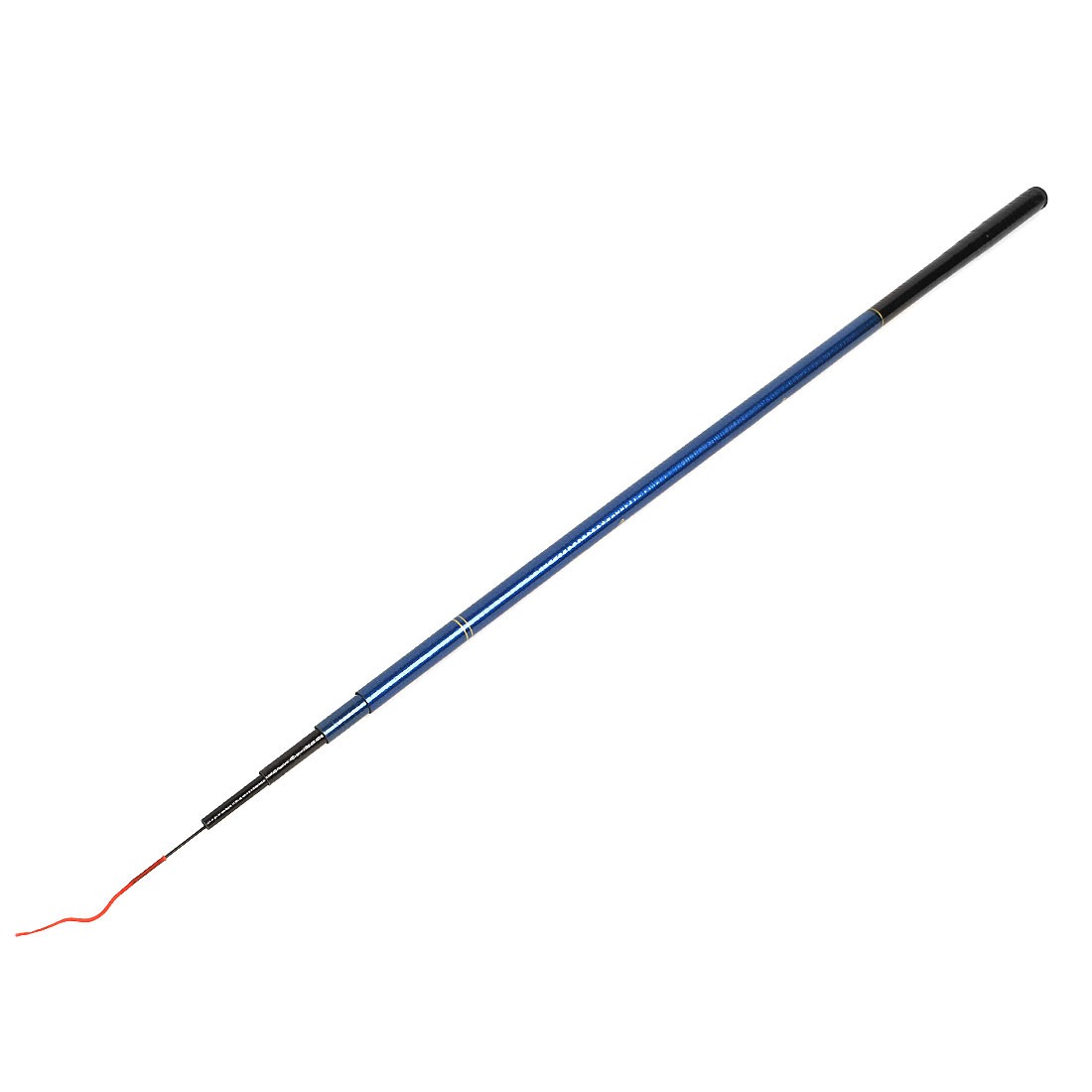 1.8M 6Ft Black Blue Handle Carbon Fiber 6 Sections Telescopic Fish Pole Retractable Fishing Rod