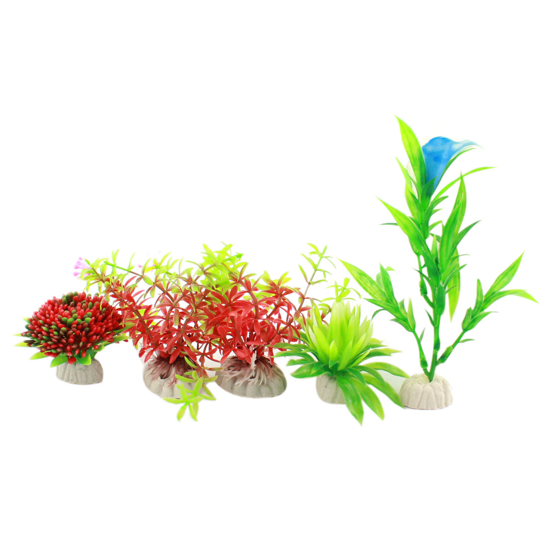 5pcs Plastic Emulational Flower Water Plants for Fish Tank