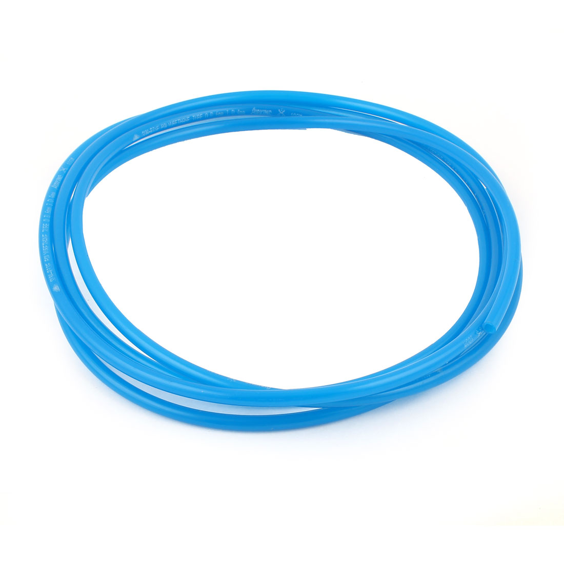 Blue 2.8 Meters 6mm OD 1mm Wall Thickness PU Air Hose Pipe