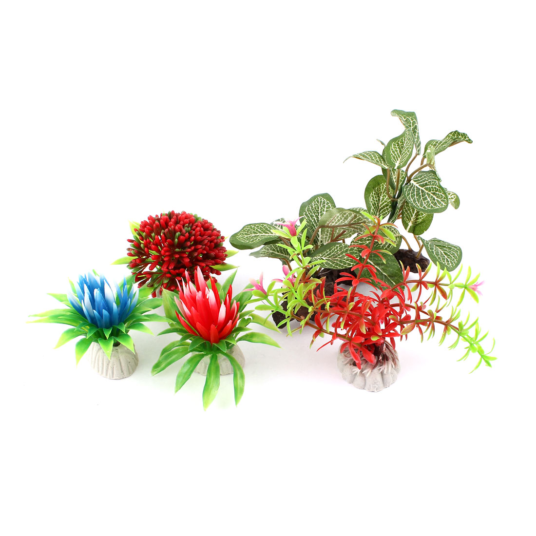 5pcs Plastic Emulational Floral Water Plants for Fish Tank