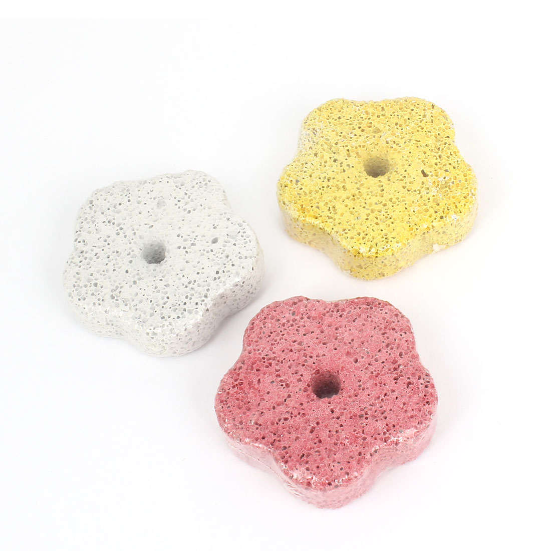 Flower Shape Cleaning Trimming Teeth Pet Dog Mineral Stone White Green Red 3 Pcs