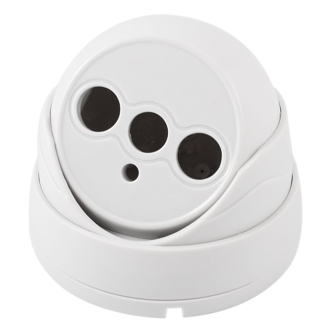 Dual LED Surveillance White Plastic CCTV Dome Camera Housing Case