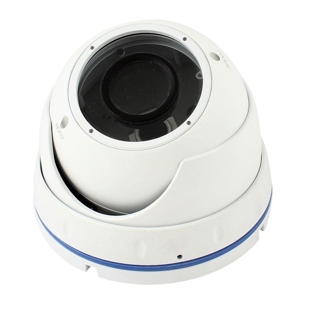 Surveillance White Metal CCTV Zoom Dome Camera Housing Case 12cm Dia