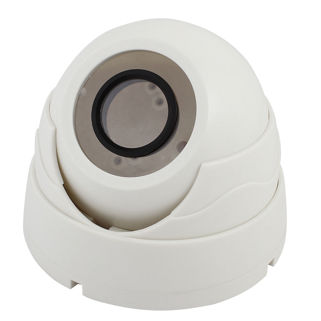 Surveillance White Plastic CCTV Dome Camera Housing Case 12cm Dia