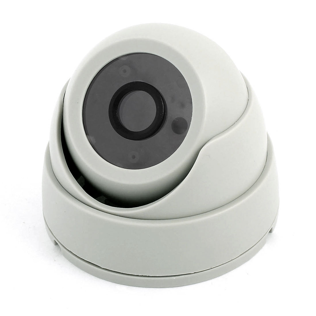 Surveillance Gray Plastic CCTV Dome Camera Housing Case 9.2cm Dia