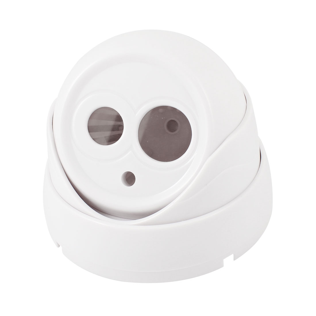 Indoor Surveillance White Plastic CCTV Dome Camera Housing Case