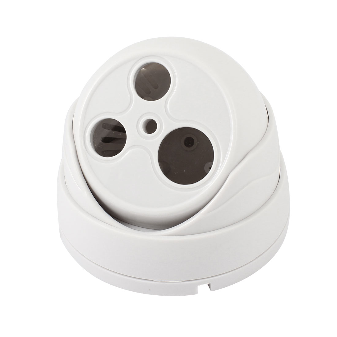 Double LED Surveillance White Plastic CCTV Dome Camera Housing Case
