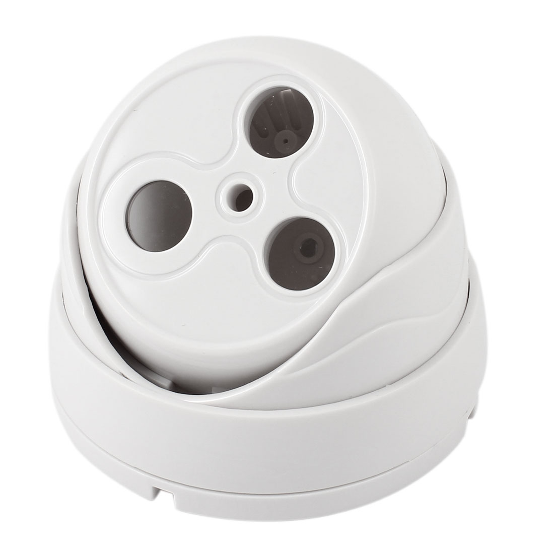 Double LED Indoor White Plastic CCTV Dome Camera Housing Case