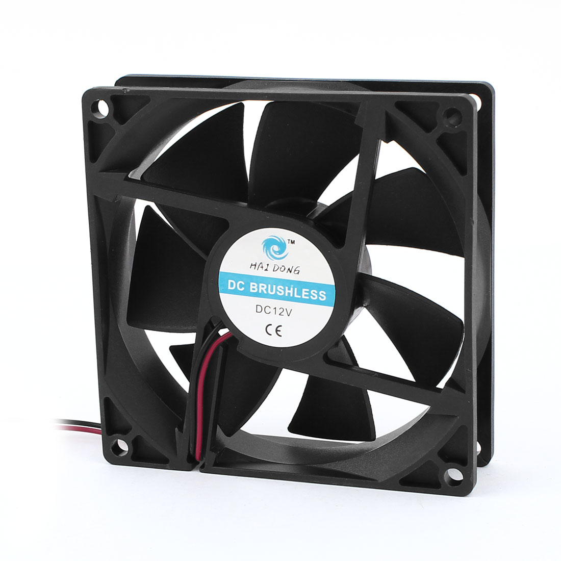 DC12V 92mmx25mm Plastic 7 Flabellums Radiator Case Cooling Fan w Dustproof Mesh