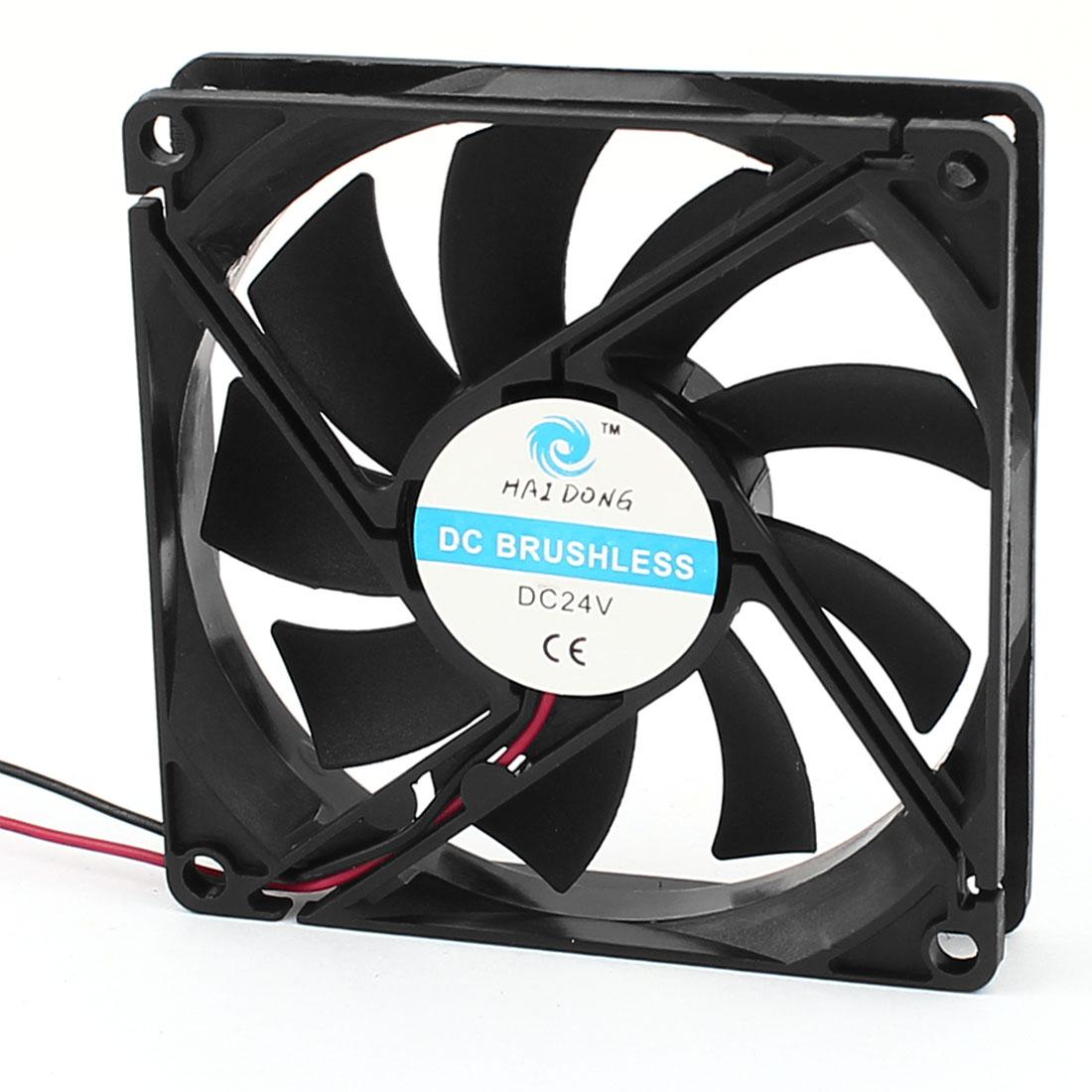 80mm x 15mm 8015 2pole DC 24V Brushless PC Case Cooling Fan w Dustproof Mesh