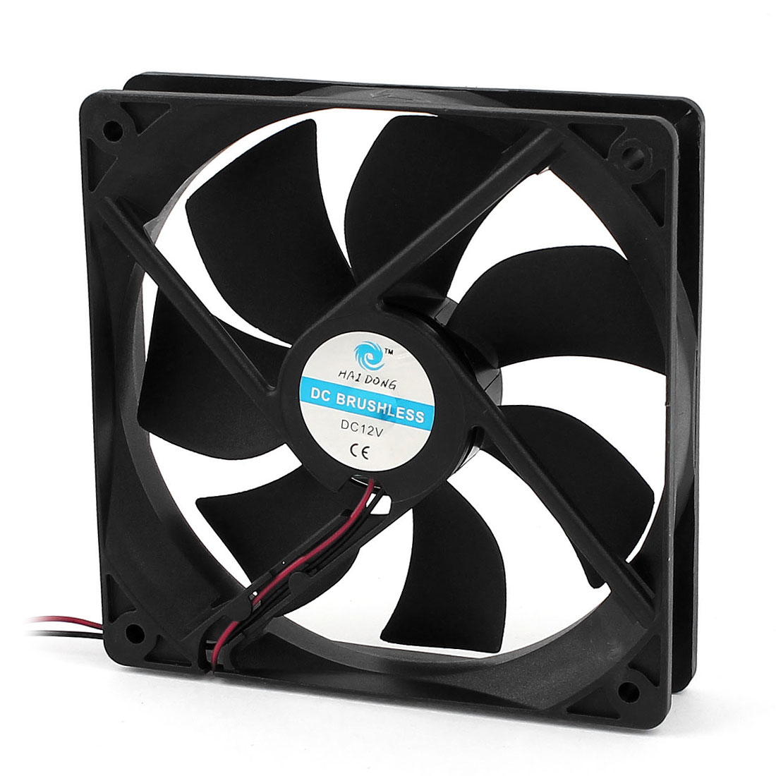 DC 12V 120x120x25mm Plastic 7 Flabellums PC Case Cooling Fan w Dustproof Mesh Filter