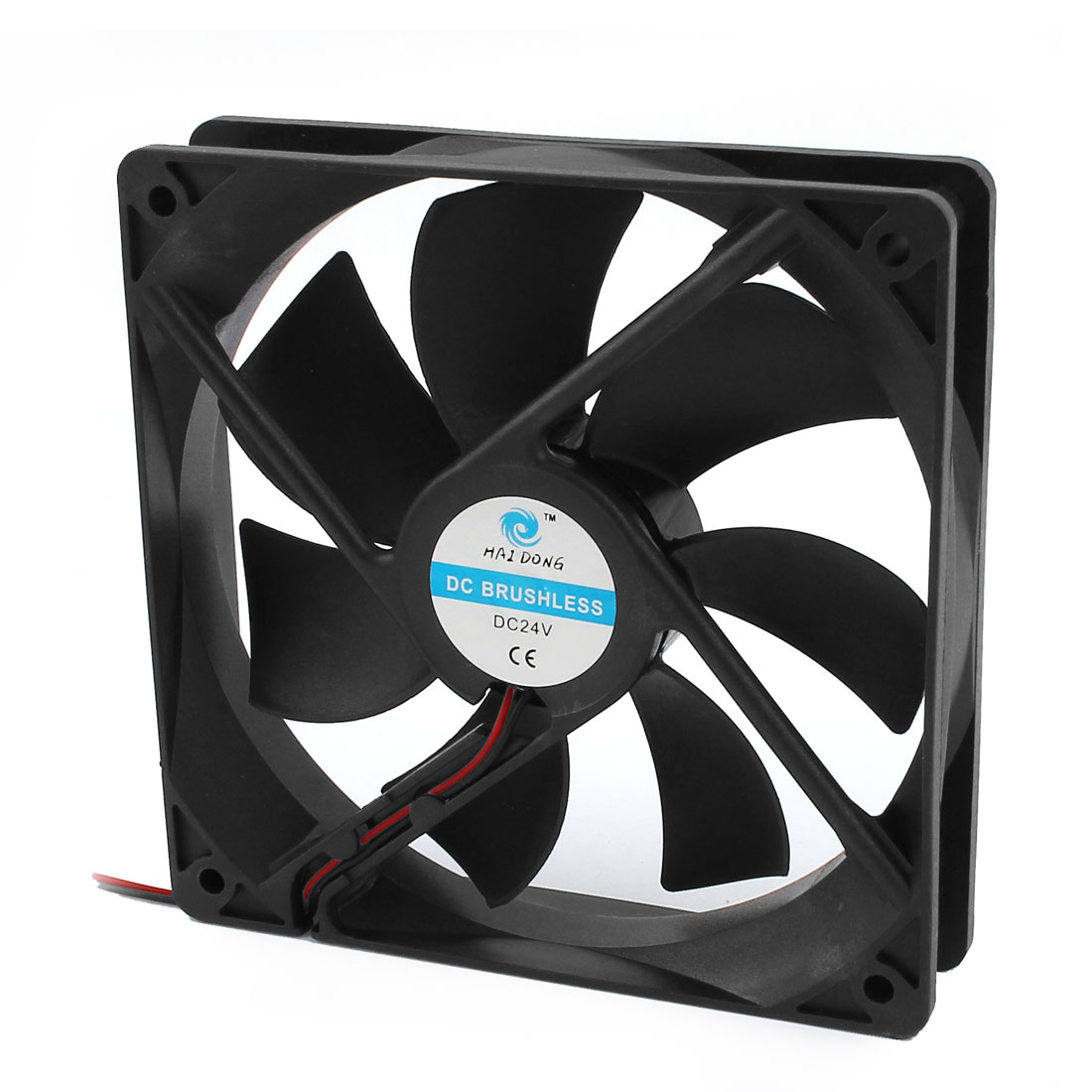 120mm x 25mm 12025 DC 24V Brushless Computer Case Cooling Fan w Dustproof Mesh