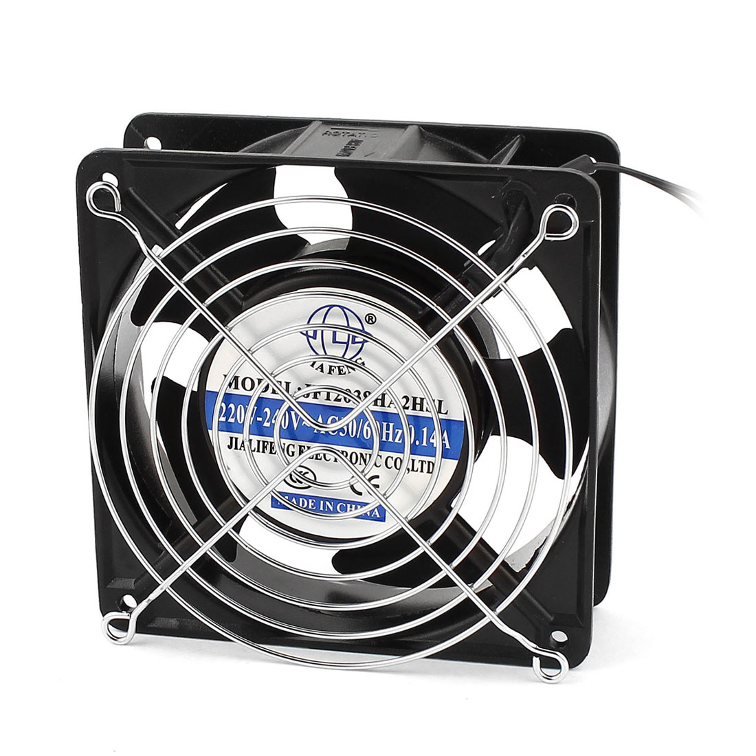 120mmx120mmx38mm 12038 5 Flabellums Case Cooling Fan Cooler AC 220V-240V 0.14A w 2 Grills