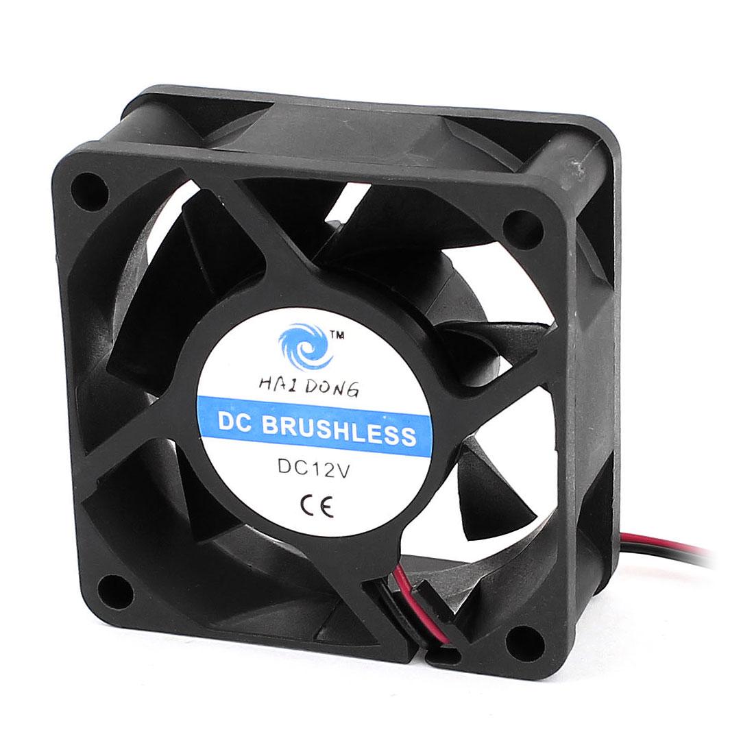 DC 12V 60mmx25mm Cooling Fan Black w Dustproof Mesh for PC Case CPU Cooler Radiator