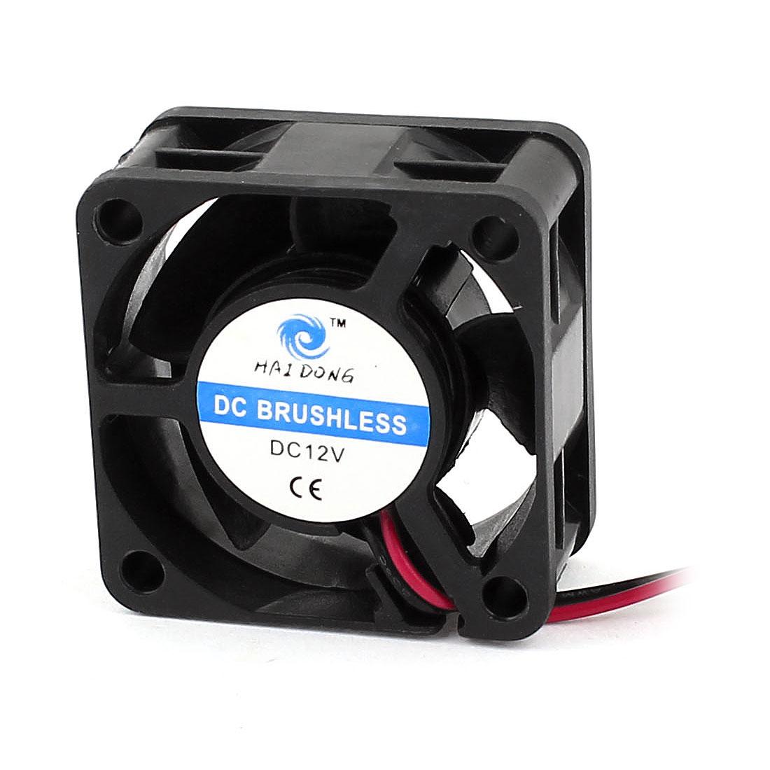DC12V 40mm 4cm PC Computer Case Cooling Fan Cooler Black w Dustproof Filter