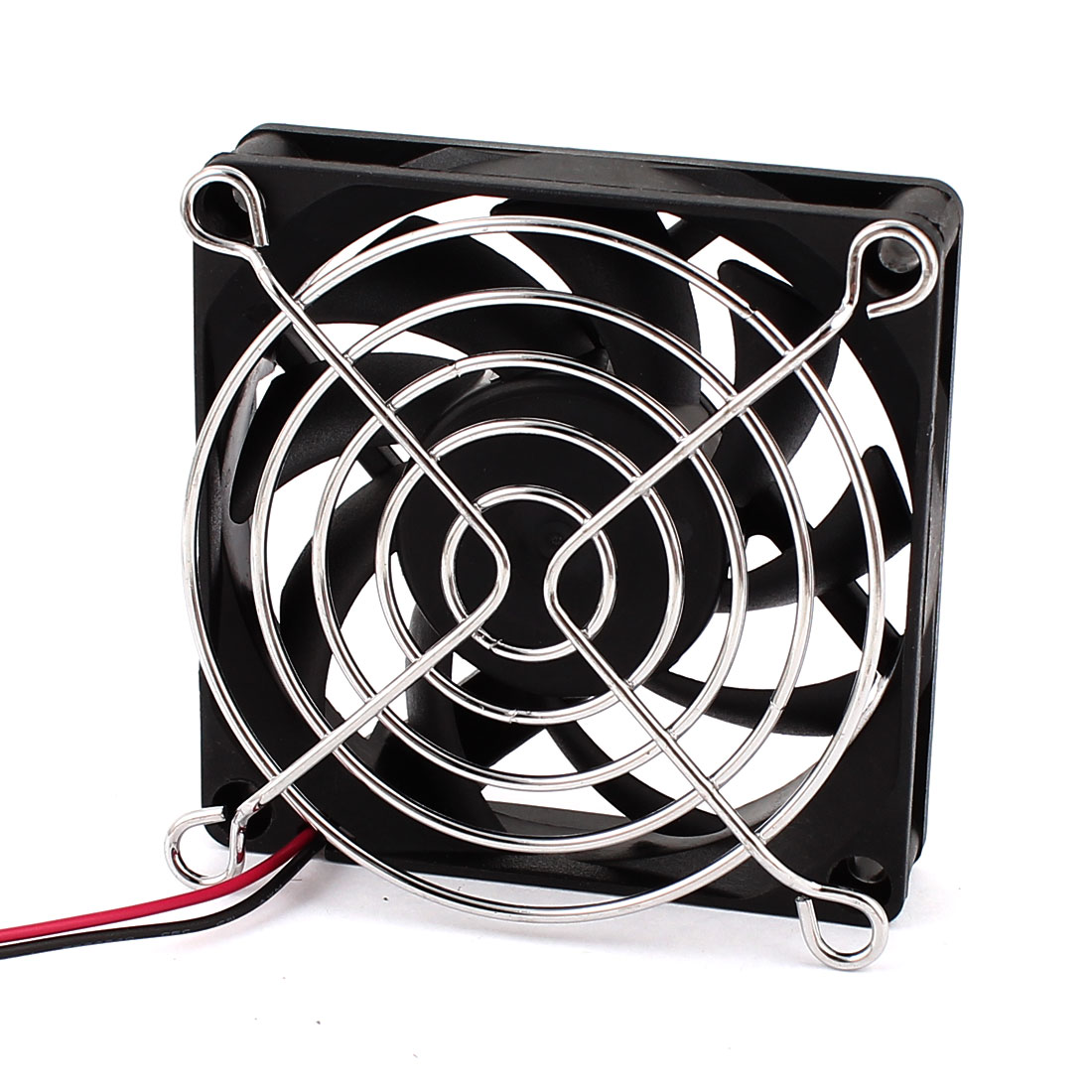 70mm x 15mm 9 Flabellums DC 24V Brushless Cooling Fan Black w Metal Grill
