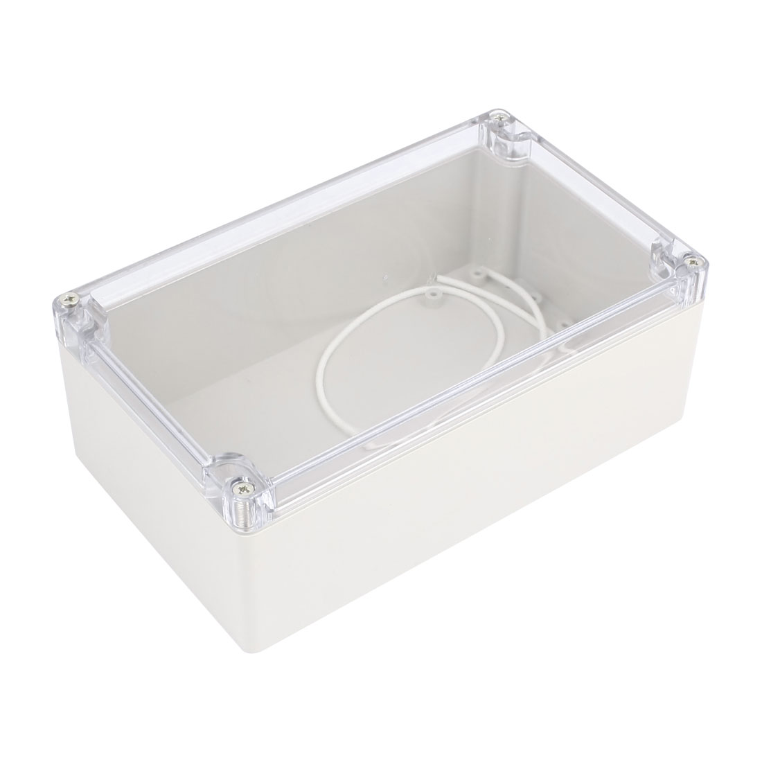 Clear Waterproof Cable Connect Electric Switch Junction Box 195 x 111 x 74mm