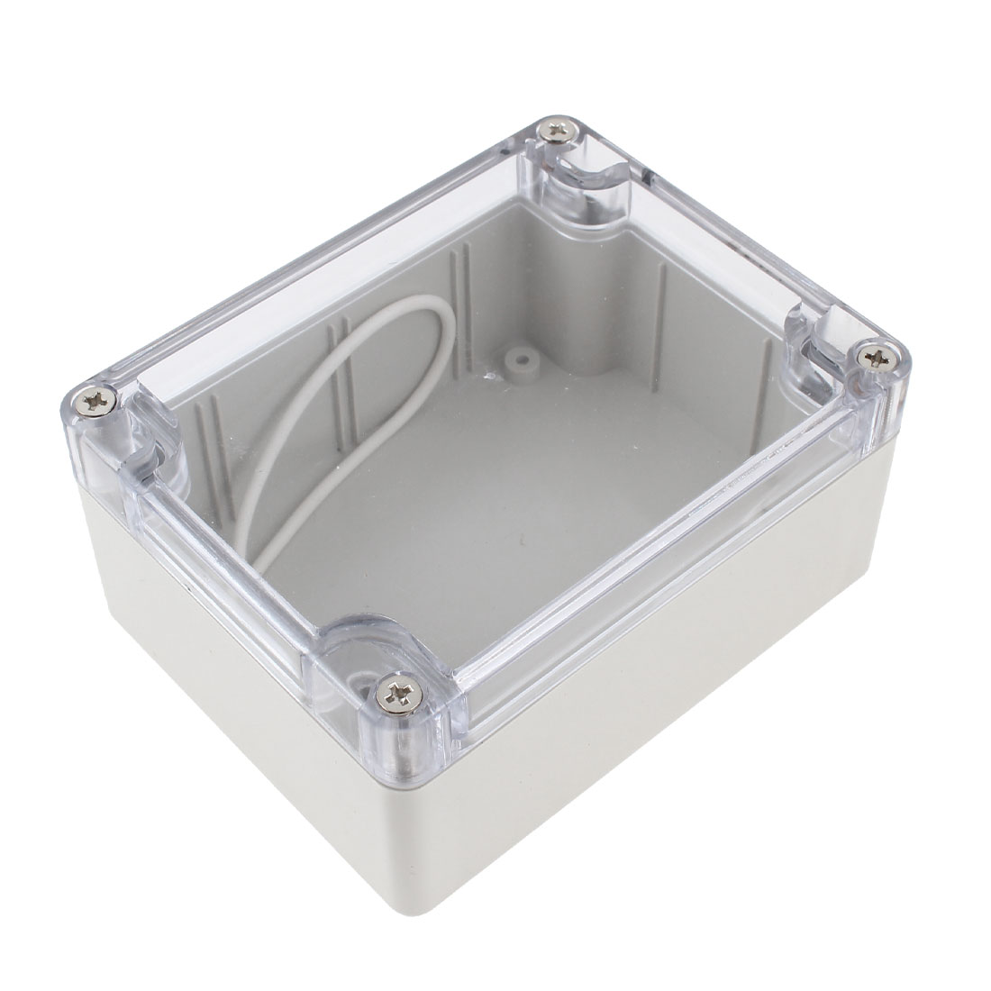 Clear Waterproof Cable Connect Electric Switch Junction Box 108 x 85 x 52mm