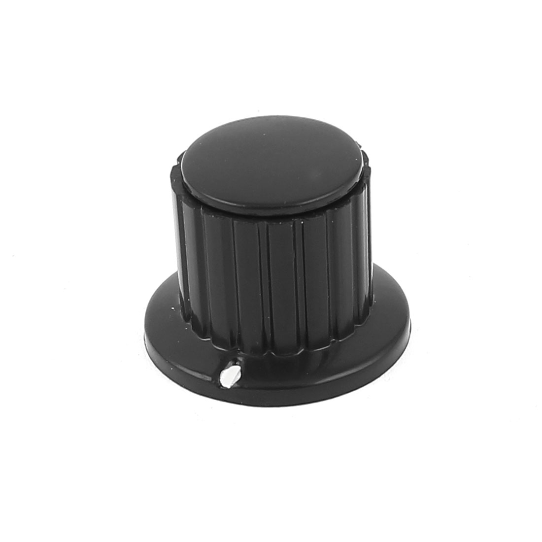 "Black Ribbed Grip 1/4"" Split Shaft Potentiometer Control Knobs"