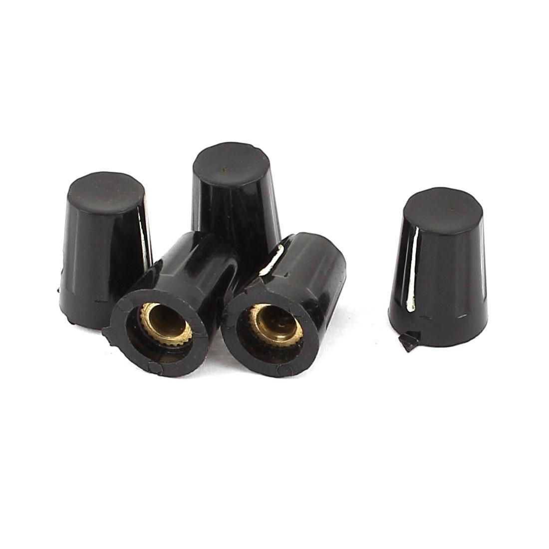 Plastic Knurled Grip 6mm Shaft Potentiometer Control Rotary Knob 5pcs