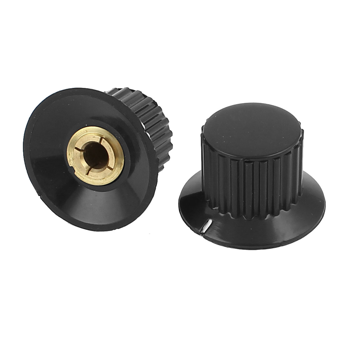 "22mm Top Dia 1/4"" Shaft Potentiometer Volume Control Knobs 2 Pcs"